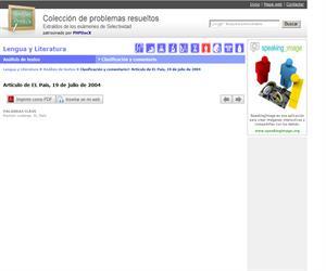 Artículo de EL País, 19 de julio de 2004. (Selectividad.tv)