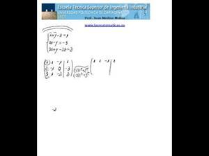 Resolución de un sistema de ecuaciones lineales (Gauss)