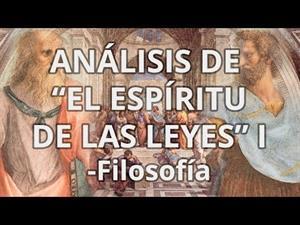 Montesquieu. El Espíritu de las Leyes I