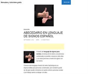 Abecedario en la lengua de signos