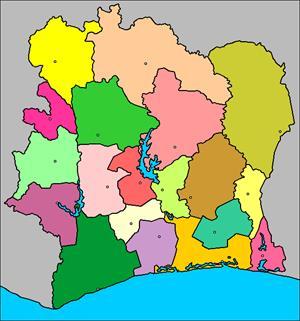 Mapa interactivo de Costa de Marfil: regiones y capitales (luventicus.org)