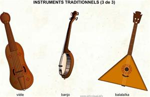 Instruments traditionnels (3 de 3) (Dictionnaire Visuel)