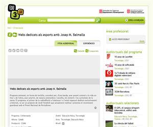 Webs dedicats als esports amb Josep M. Balmalla (Edu3.cat)