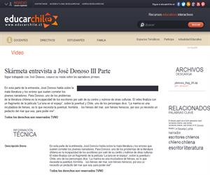Skármeta entrevista a José Donoso III Parte (Educarchile)