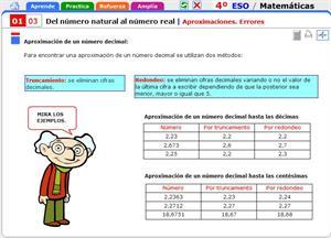 Aproximaciones. Errores. Matemáticas para 4º de Secundaria