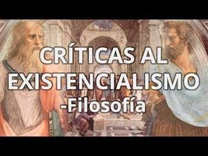 Críticas al existencialismo