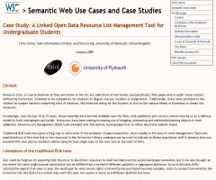 Case Study: A Linked Open Data Resource List Management Tool for Undergraduate Students