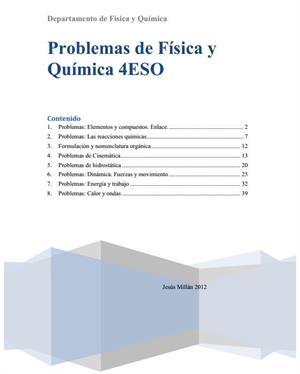 Problemas de Física y  Química 4º ESO