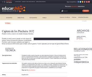 Captura de los Pincheira 1832 (Educarchile)