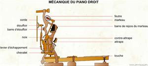 Mécanique du piano droit (Dictionnaire Visuel)