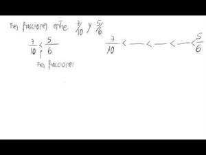 fracciones comprendidas entre dos números racionales