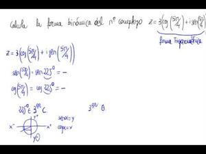 Paso de trigonométrica a binómica