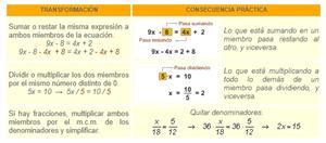 Ecuaciones de primer grado