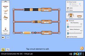 Stromkreise schalten: Virtuelles Gleichstrom-Labor