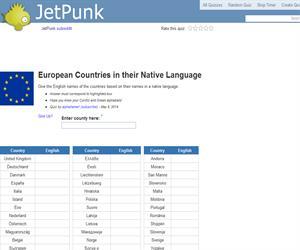 European Countries in their Native Language