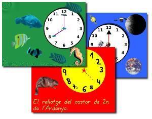 Treballem les hores (ZIP de actividades Jclic)