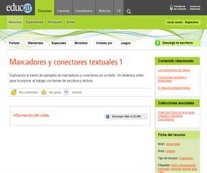 Marcadores y conectores textuales 1