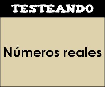 Números reales. 4º ESO - Matemáticas (Testeando)