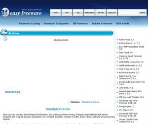Relatran v3.2 software gratuito sobre mecanismos