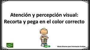 Atención y percepción visual: jugamos con los colores (recorta y pega)