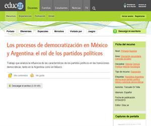 Los procesos de democratización en México y Argentina: el rol de los partidos políticos