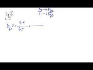 Cálculo de un logaritmo por la fórmula de cambio de base