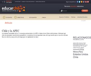 Chile y la APEC (Educarchile)