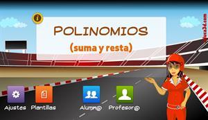 Suma y resta de polinomios - Unidad interactiva