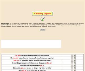Palabras homófonas con Y e LL (I), ortografía interactiva