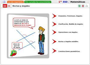Autoevaluación. Rectas y ángulos en el plano. Matemáticas para 1º de Secunaria