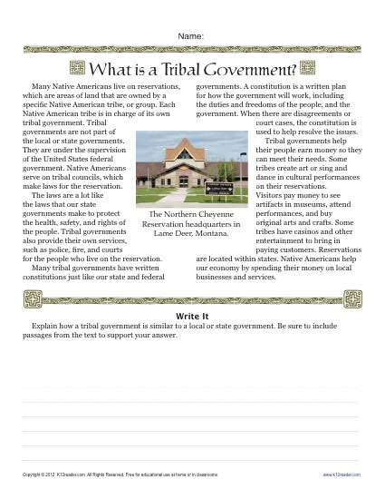 What Is Tribal Government?