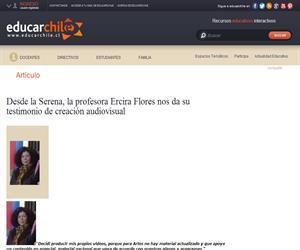 Ercira Flores testimonio de creación audiovisual (Educarchile)