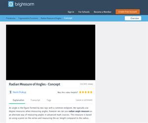 Radian Angle Measure