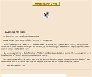 Marcelino,pan y vino: lectura comprensiva interactiva