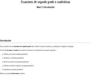 Introducción a las ecuaciones cuadráticas