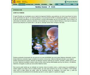 Genética Humana: unidad de Biología y Geología de 4º ESO (proyecto Biosfera)
