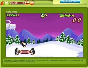 Arctic Antics: un juego navideño para los niños (Funschool.com)