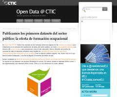 Los primeros datasets del sector público: la oferta de formación ocupacional del principado de Asturias (Open Data @ CTIC)
