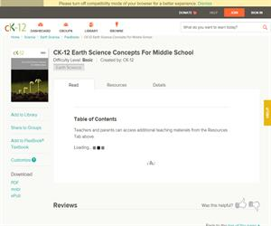 CK-12 Earth Science Concepts For Middle Schoo? Basic