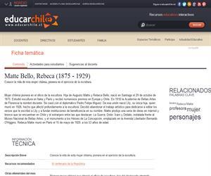 Matte Bello, Rebeca (1875 - 1929) (Educarchile)