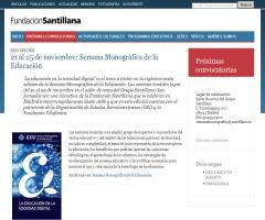 Fundación Santillana - Semana Monográfica de la Educación (21 al 25 de noviembre de 2011)