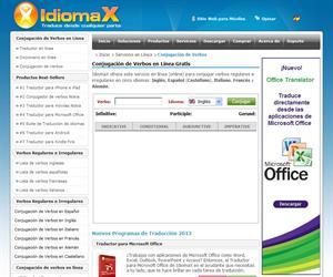 Conjugación de Verbos en la red con IdiomaX