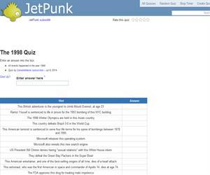 The 1998 Quiz