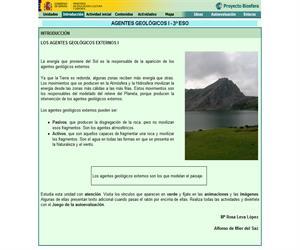 Agentes geológicos externos (Proyecto Biosfera)