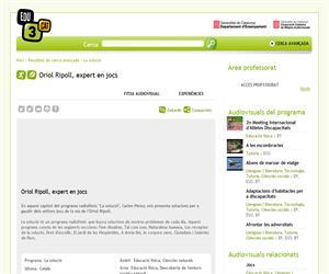 Oriol Ripoll, experto en juegos (edu3.cat)