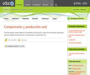 Comprensión y producción oral