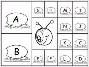 Un gusano lleno de letras