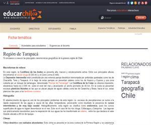 1era Región Geografía y clima (Educarchile)