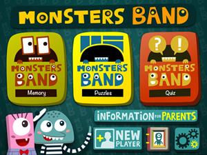 Monsters Band, juegos educativos para iPad y iPhone (3 a 6 años)