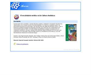 El vocabulario médico en la Cultura Andaluza